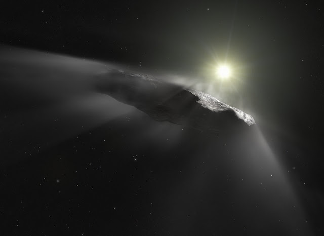 Hubble sees `Oumuamua getting a boost