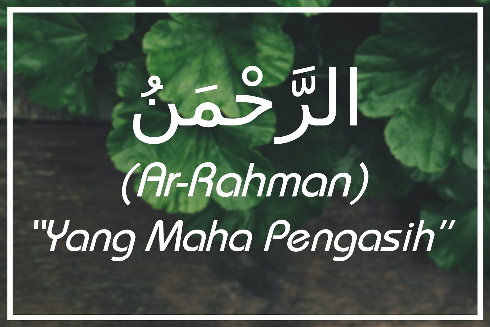 Ar Rahman Artinya Yang Maha Pengasih Asmaul Husna