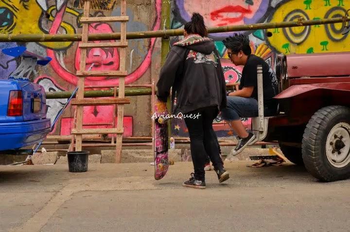 Tamawan Village Making of a Graffitti Mural Baguio City Philippines 79