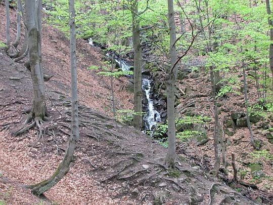 Spływ potoku w wyższych partiach.