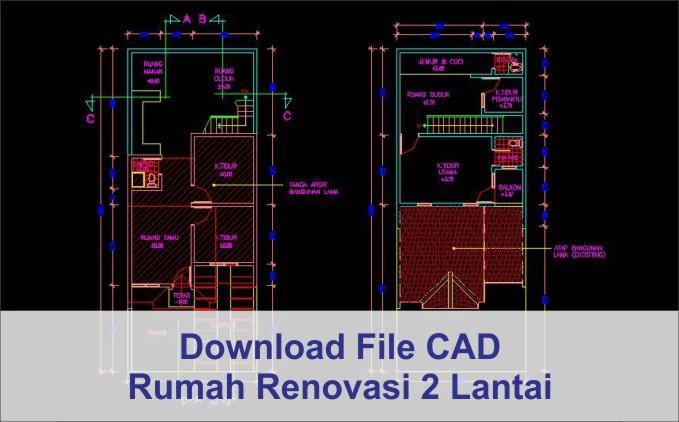 download gambar rumah renovasi dwg autocad