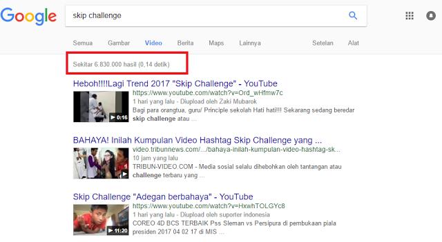 Hasil pencarian Video skip challenge