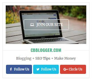Widget Media Sosial Join Our Blog