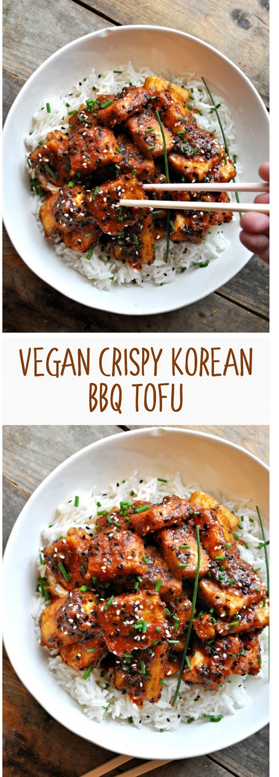 Vegan Crispy Korean BBQ Tofu