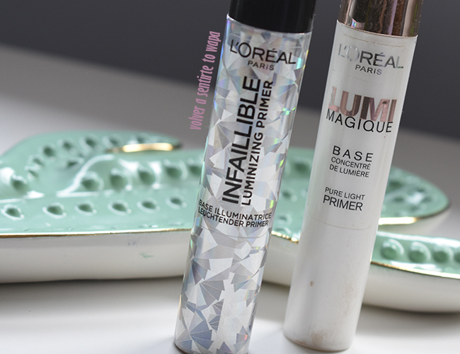 Prebase Infaillible Luminizing vs Lumi Magique de L'oreal