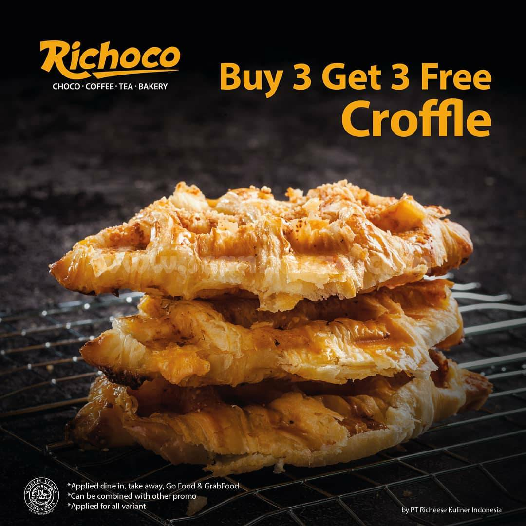 RICHOCO Promo Buy 3 Get 3 Free CROFFLE