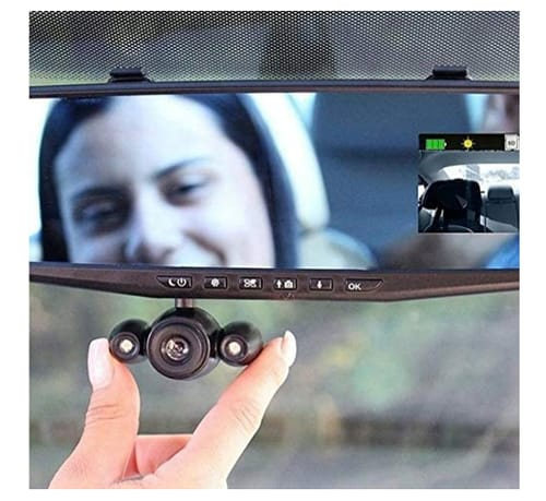 N/J Hd Mirror Cam As Dashcam Recorder