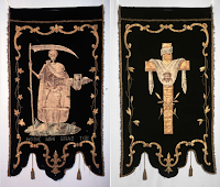 Funerary Processional Banners with Memento Mori