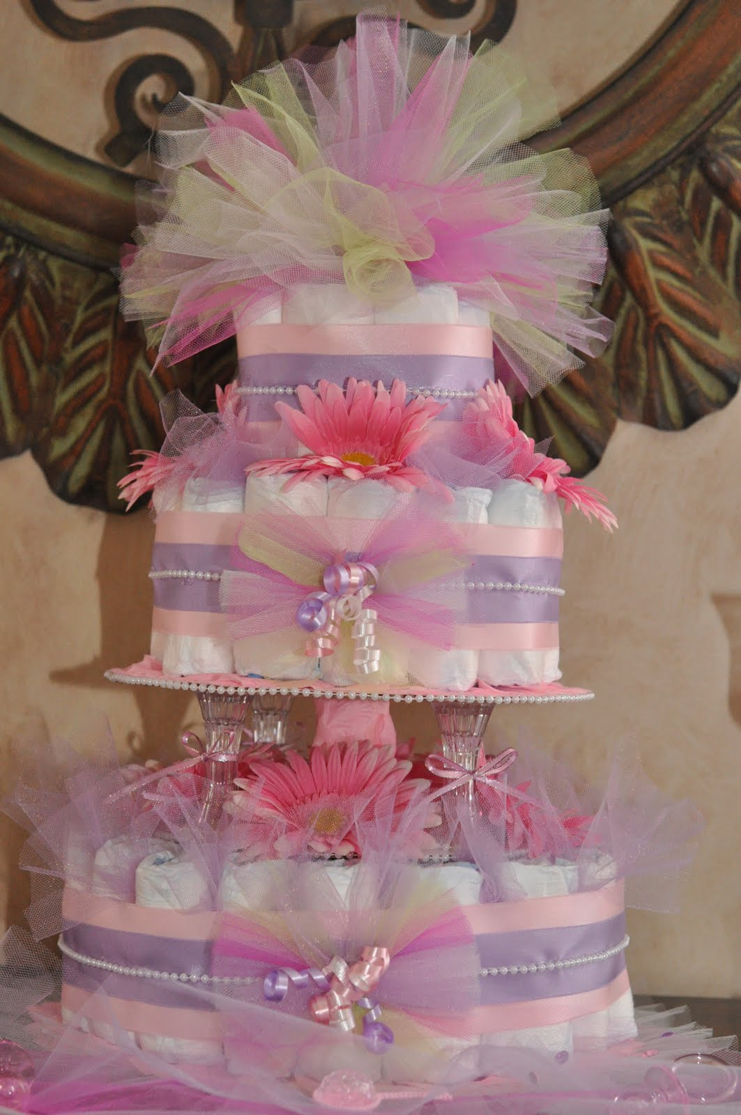 The Diaper Cake. What To Write In Baby Book For Baby Shower. View ...