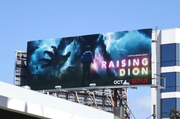 Raising Dion series premiere billboard