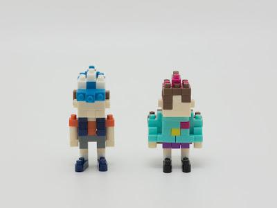 ナノブロック で作った ディッパー と メイベル (怪奇ゾーン グラビティフォールズ)