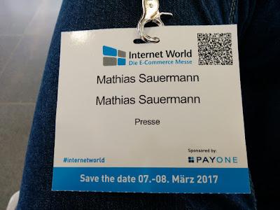 Internet World 2016: der Presseausweis.