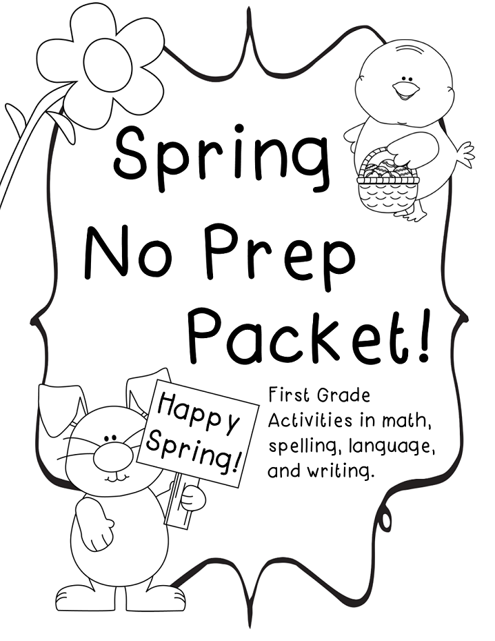 Spring Themed No Prep Packet!! - Tech and Teachability