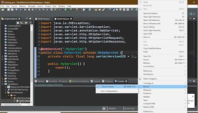 running a servlet
