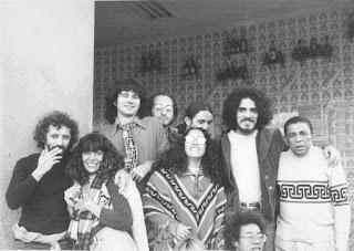 Zé Ramalho on the tour of his first album.Geraldo Azevedo, Elba Ramalho, Valdemar Falcão, Lizzie Bravo, Cátia de França e Bezerra da Silva