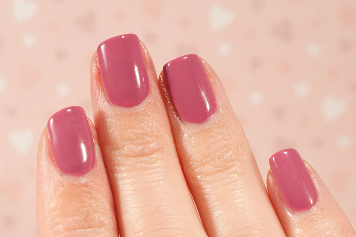 Pink Gellac Boudoir Charm Collection Swatches - 306 Blissed Mauve