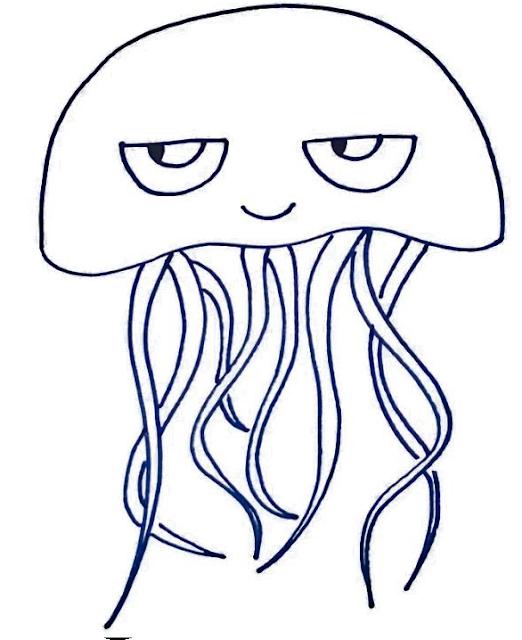 dibujos faciles de medusa