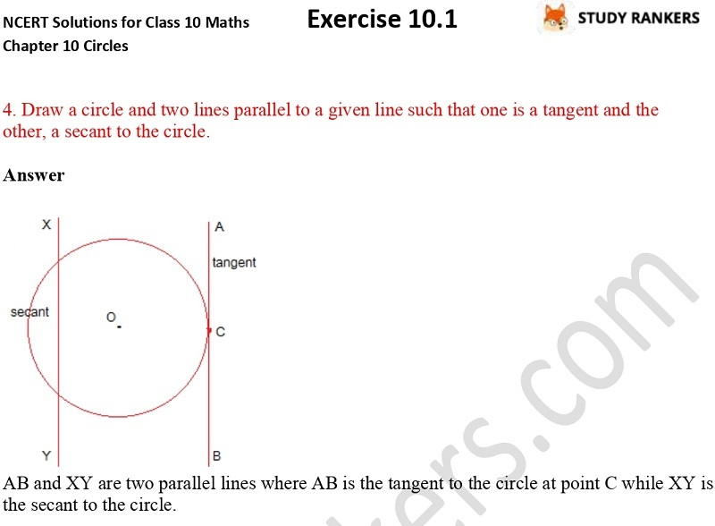 NCERT Solutions for Class 10 Maths Chapter 10 Circles Exercise 10.1 Part 2
