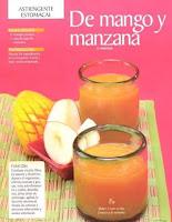 Jugos saludables mango y manzana