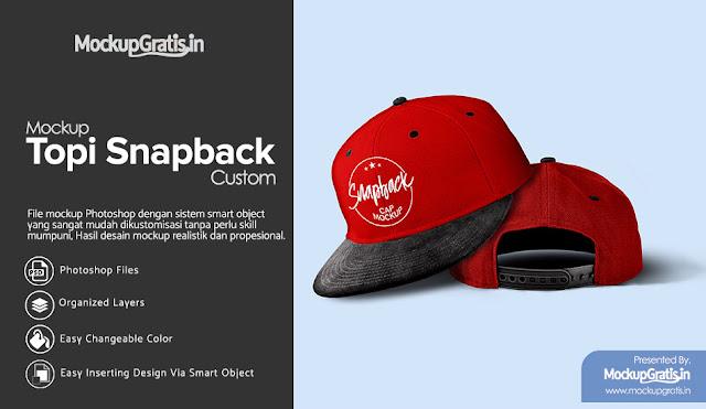 PSD Mockup Topi Snapback Custom #01 Gratis