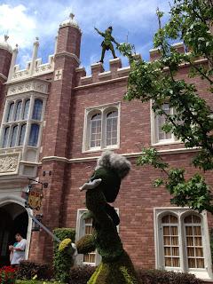 Peter Pan and Captain Hook Topiaries Epcot Disney World