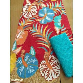 Kain Batik Bunga Sepatu Merah