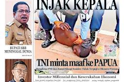 Tabloid Lelemuku #52 - Injak Kepala, TNI Minta Maaf ke Papua - 02 Agustus 2021