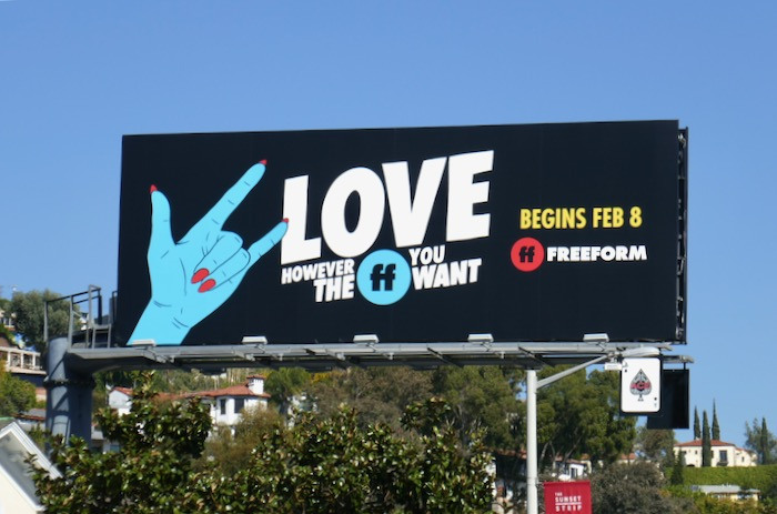 Love however FF you want Freeform billboard