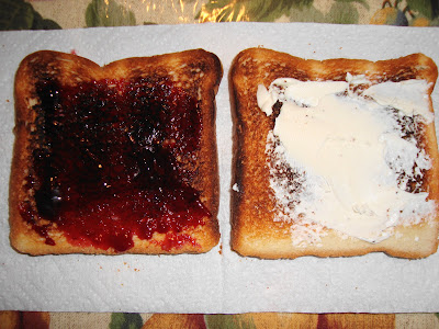cream cheese and red raspberry jam
