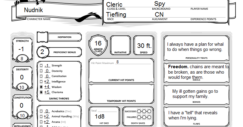 Evitable Boredom: Atypical Characters: Tricky Cleric