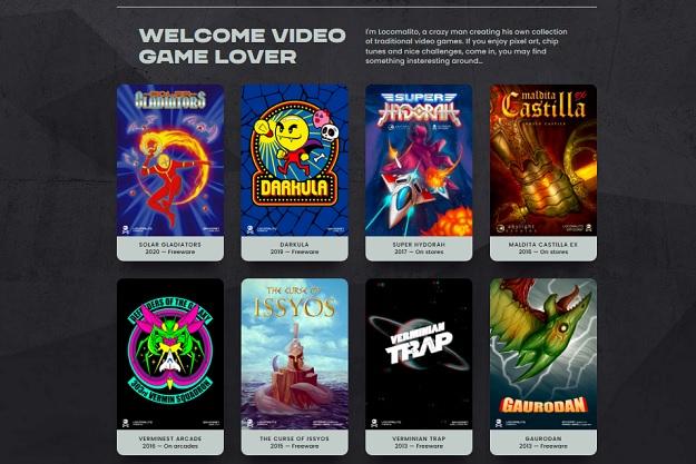 Locomalito - Ιστοσελίδα με πολλά σύγχρονα παιχνίδια retro αισθητικής
