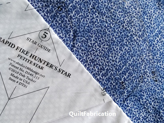 blue and white for a Hunter's Star quilt