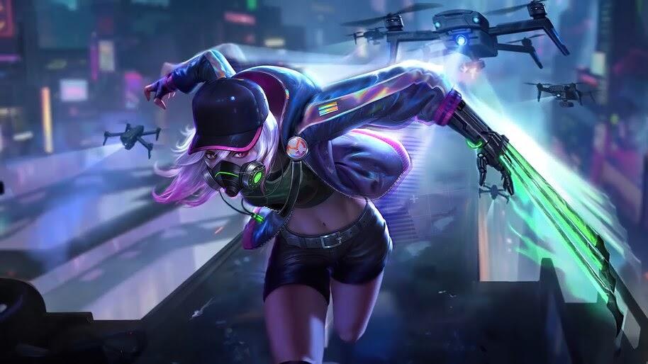 Natalia, Cyber Spectre, Mobile Legends, Skin, 4K, #7.1788
