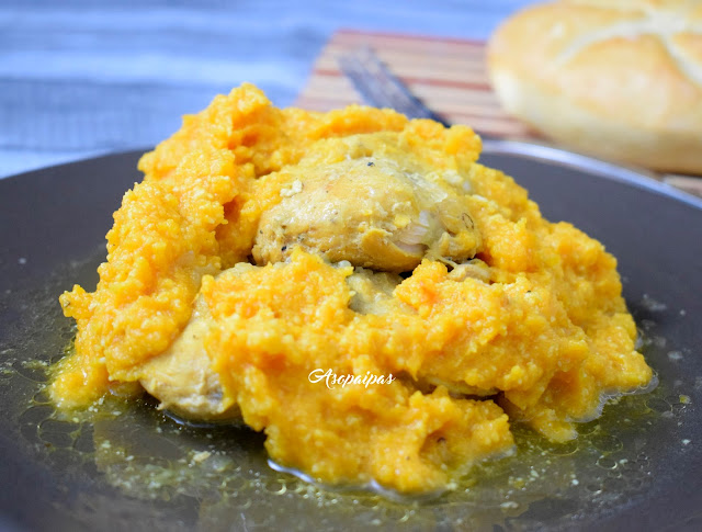 Pollo y Puré de Calabaza (M' Derbel)