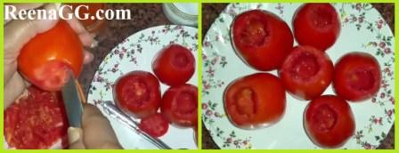 Cheese Rice Stuffed Tomatoes Recipe step 1