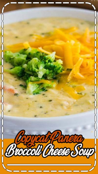 A creamy and delicious soup that tastes just like Panera Bread!