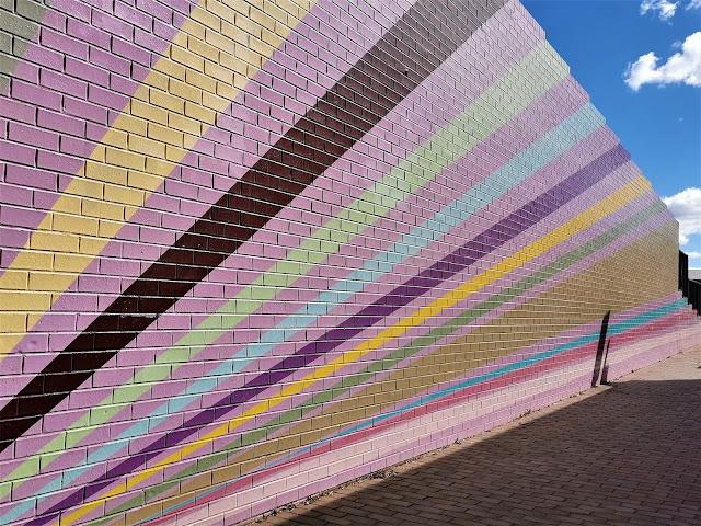 Goulburn Street Art   'Lilac Walk' by Kate Vassallo & James Lieutenant