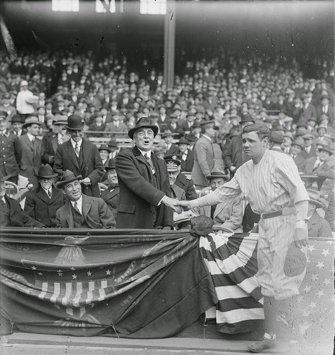 Ultimate Collection Of Rare Historical Photos. A Big Piece Of History (200 Pictures) - Babe Ruth and Warren G. Harding