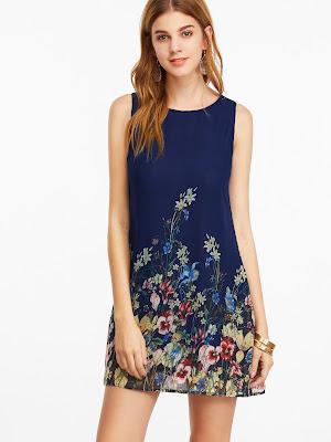 dress-vestito-blu-floreale