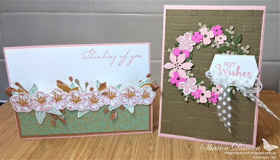 Rhapsody in craft, Blushing Bride, Forever Blossoms, Cherry Blossom Dies, Arrange a Wreath Bundle, Stampin' Up, 2020-21 Catalogue