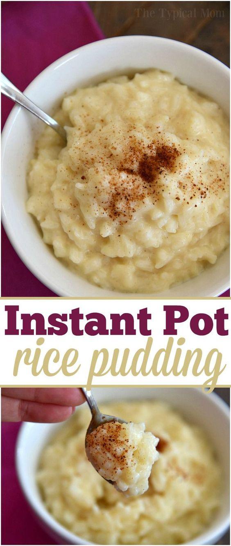 Instant Pot Rice Pudding Recipe