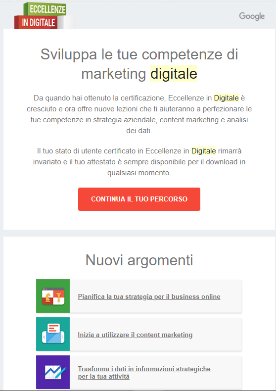 digital marketing eccellenze in digitale formazione