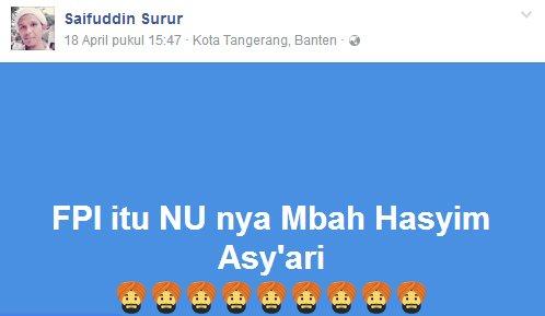 Kesalahan Semboyan Fpi Madura Saya Ikut Nu Nya Kh Hasyim Asyari