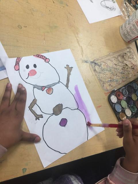 snowman art for kids