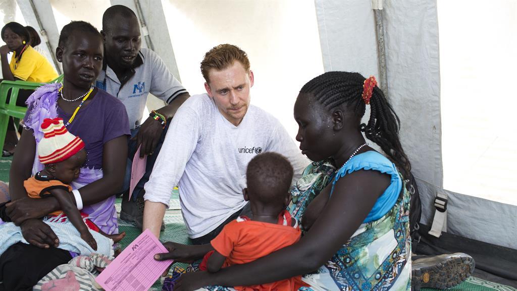 Tom Hiddleston Fashion: Humanitarian Work in South Sudan