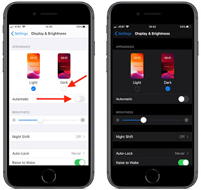 IOS 13 DARK MODE SETTING