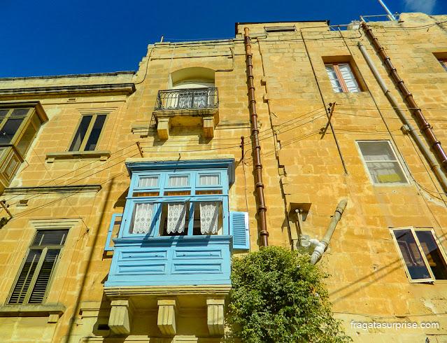 Balcão típico de Malta em La Vittoriosa (Birgù)