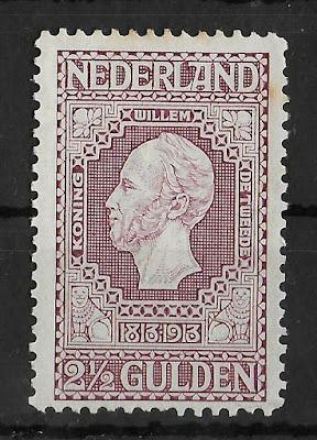 NETHERLANDS 1913 2 1/2 Gld Dark Violet NVPH #99