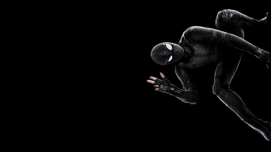 spider man stealth suit 4k wallpaper